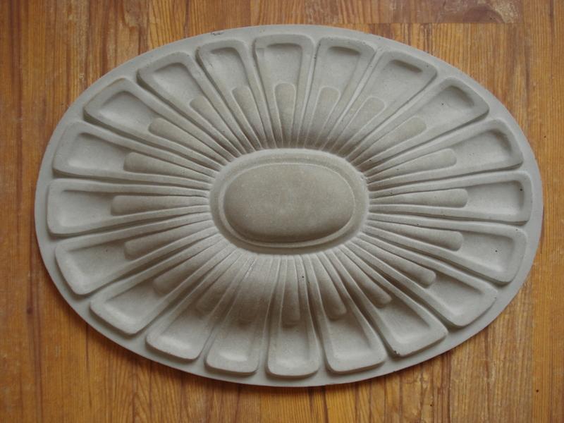 fassaden stuckrosette 100 128b stuck schmuckelement f r aussenfassade aus beton ebay. Black Bedroom Furniture Sets. Home Design Ideas