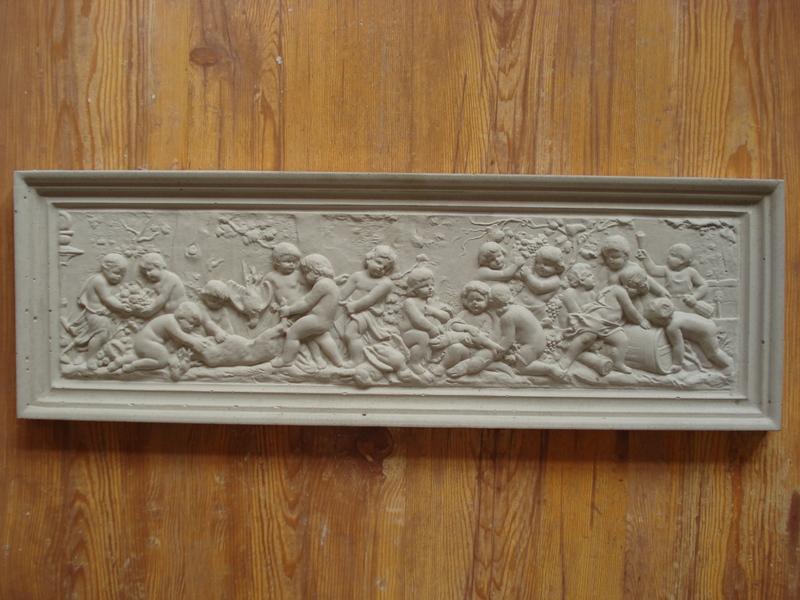 Fassade Schmuckplatte 28x19 cm aus Beton Stuck Motivplatte 3014