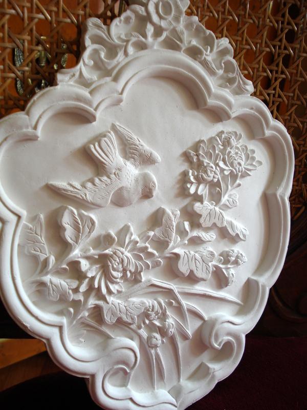 Image de Stuc 101-339 Relief Oiseaux Art Nouveau Médaillon en Stuc Stuc