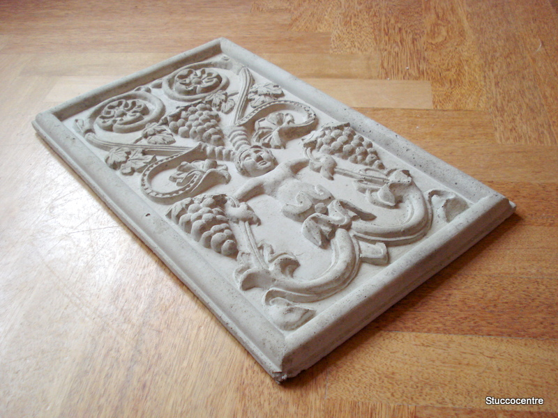stuc coinc plaque d corative vigne fa ade b ton fruits 132 3041b relief motif ebay. Black Bedroom Furniture Sets. Home Design Ideas
