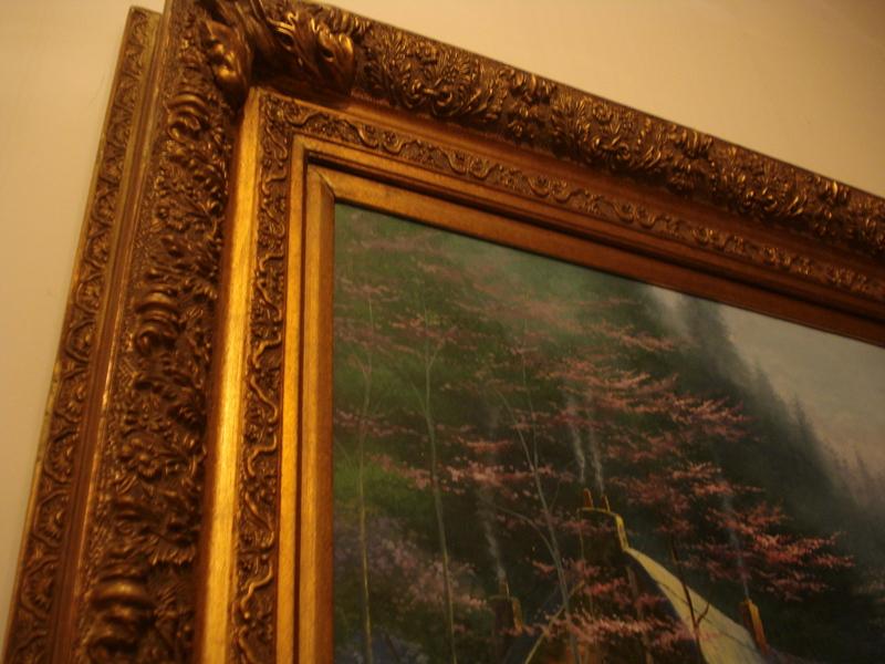 altes lgem lde gem lde xxl 154 x 123 cm prunkvoller bilderrahmen holz gold. Black Bedroom Furniture Sets. Home Design Ideas