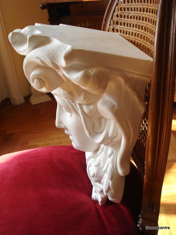 wunderschöne große Jugendstil Frauenkopf Konsole  Bekrönung Stuck