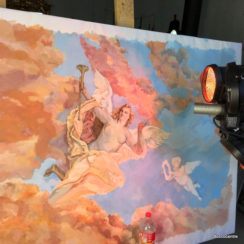 Fresco Painting Venus Ceiling Painting Mural Xxl Stucco