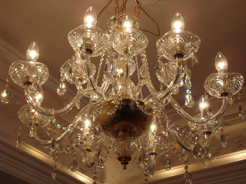 Kronleuchter Für Große Räume ~ Großer echtglas kronleuchter 70cm 8 4 lampe lüster kristall