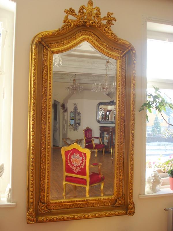spiegel barock wandspiegel gold rahmen antik badspiegel 44 cm x 54 cm deko holz ebay. Black Bedroom Furniture Sets. Home Design Ideas