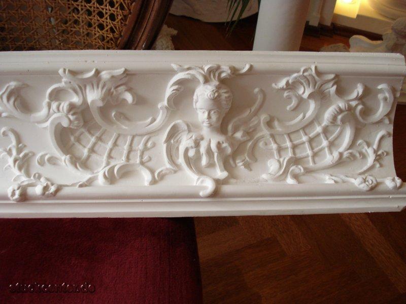 62 x 20 cm aus Beton für Aussen Fassade Engel am Weinberg Stuck Motivplatte